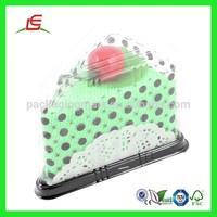 Q517 Alibaba China Wholesale Clear Custom Printed Plastic Triangle Cake Box
