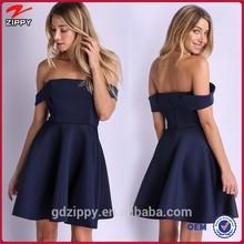 Navy off shoulder short unbranded clothing wholwsale
