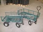 four wheel hand tools garden cart trolley
