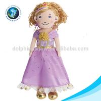 2015 Purple princess girl doll soft plush stuffed sex doll
