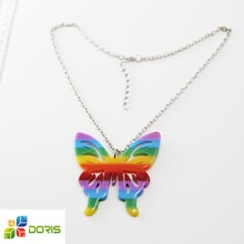 Butterfly Acrylic Pendant Necklace Fashion Necklace 2015