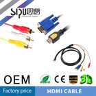 SIPU factory price hdmi to vga rca cable 3rca cable male cable wholesale