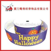 2015 colorful Halloween Printed Satin Ribbon