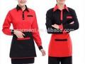 Hotel de alta qualidade custom design uniforme de garçonete fabricação