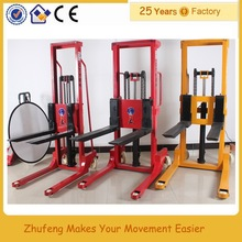ZHUFENG 1 ton fork lifter price/hand manual forklift 1ton