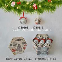 Distinctive Popular Product 7 PCS Polyfoam Christmas Tree Hanging Ball