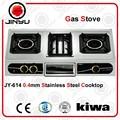 vente chaude 2 brûleur appareil de cuisine poêles à gaz avec grill