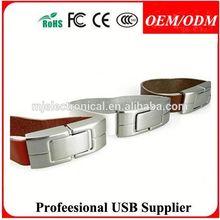 hot fashion gift usb leather bag usb , key chain usb flash drive leather