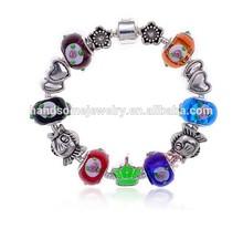 Handmade Bracelet 925 Tibetan Silver Murano Glass Bracelets For Women Fashion European Style Jewelry