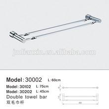 Bathroom chrome brass novelty double towel bars