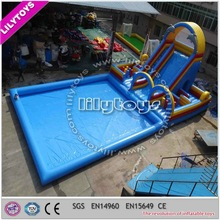 Commercial Used Kids Inflatable Large Water Park Slides for Sale