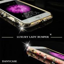 Hybrid diamond mobile phone case for iphone6, diamond case for iphone 6