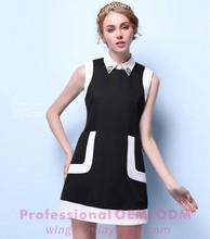 New design office lady wear dress sleeveless vest dress for women A-line slim dress