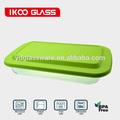 3L pyrex cristal rectangular placa de cocción de plato de microondas con tapa