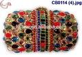 Cb0114(4) 2015 nuevo diseño pequeño italianos de alta calidad estilo bolso de mano con piedra embrodried para dama disgn