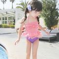 ms62356c coreano moda 2015 bolinhas crianças menina swimwear dos miúdos
