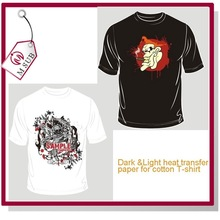 Cotton T-shirt A4 Heat Transfer Printing Paper in Dark and Light Color
