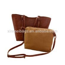 2015 alibaba wholesale high quality imitation brand 2 pcs in 1 set handbag , buy one get one free women handbag