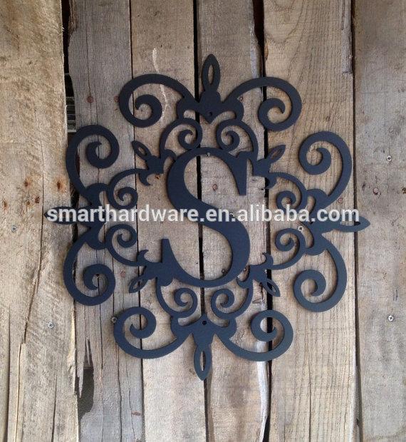 monogram s hanging wall decoration metal letter wall decor. Black Bedroom Furniture Sets. Home Design Ideas