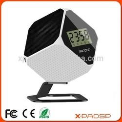 2015 New Portable wireless loudspeaker with clock, FM radio