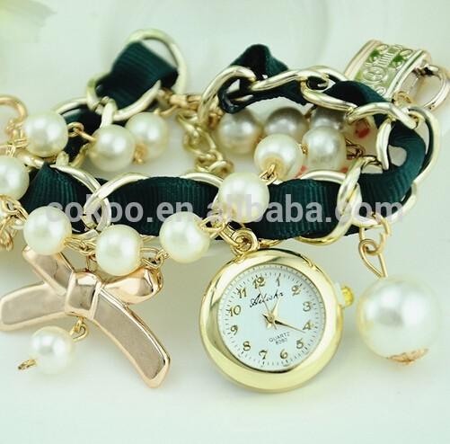 Pearl Bracelet Watches Pearl Bracelet Band Watch
