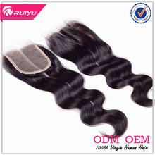 Factory Huge Stock Virgin Brazilian Hair 3 part lace closure