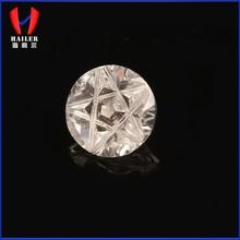 Round shape special cut white & big cubic zirconia stone