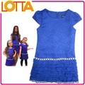 atacado crianças stocklot de vestuário mais recente design de uma peça de meninas vestidos de festa