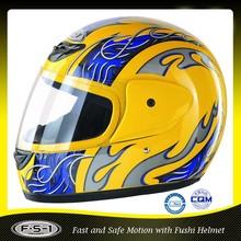 Yellow cool DOT full face german motorcycle helmet