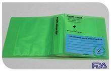 foto album di plastica con carta di nome tasca