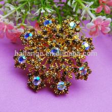 2015 bulk rhinestone jewelry making brooch for dress