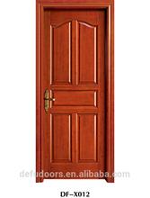 5 panel natural veneer mould glass painting door/toilet door/bathroom door