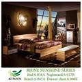 De gama alta dormitorio dorado muebles