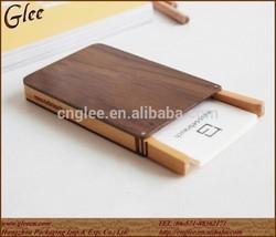 Natural Wood Business Card Holder