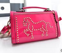 Fancy women horse diamond PU hand bags 2015 China wholesale fashion hand bag