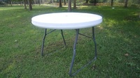 small white Garden use plastic folding round table