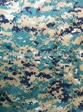 telfon finish pixel design camouflage poly cotton rip stop fabric