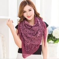 New fashion triangle lace knit scarf