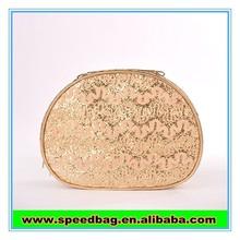 shine gold women brand cosmetic bag fashion handbag with gold for party cosmetic bag with mirror FW16127