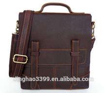 Fashion Boutique 100% Genuine Leather Men Bags Shoulder Vintage Pasta Para documentos Beauty Briefcase