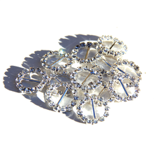 Hot sale design shoes accessory ladies,fashion rhinestone shoe buckles,round and heart crystal buckles for bags