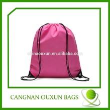 Most popular fold up polyester drawstring bag