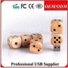 customer logo usb wooden disk , wood case mini usb pen drive