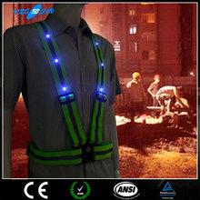 OEM led light belt ,reflective safety belt,polyester webbing for safety belt