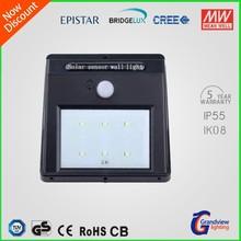 waterproof outdoor motion sensor solar led wall light