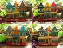 world tourism souvenir 3d hand-drawn resin belgium souvenir fridge magnet