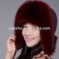 venta al por mayor de china de piel de zorro sombrero ruso las mujeres sombrero del invierno