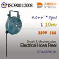 1.5mm2 3 piezas l 10m 220v6a llevó la luz dts-1510e-18wl tipo de pequeño tamaño de la manguera eléctrica carrete carrete de cable cable de alimentación