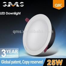 CRI>81 120 degree beam angle LED downlight 30w black aluminum housing