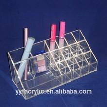 Clear acrylic desk organizer,acrylic makeup organizer lipstick holder